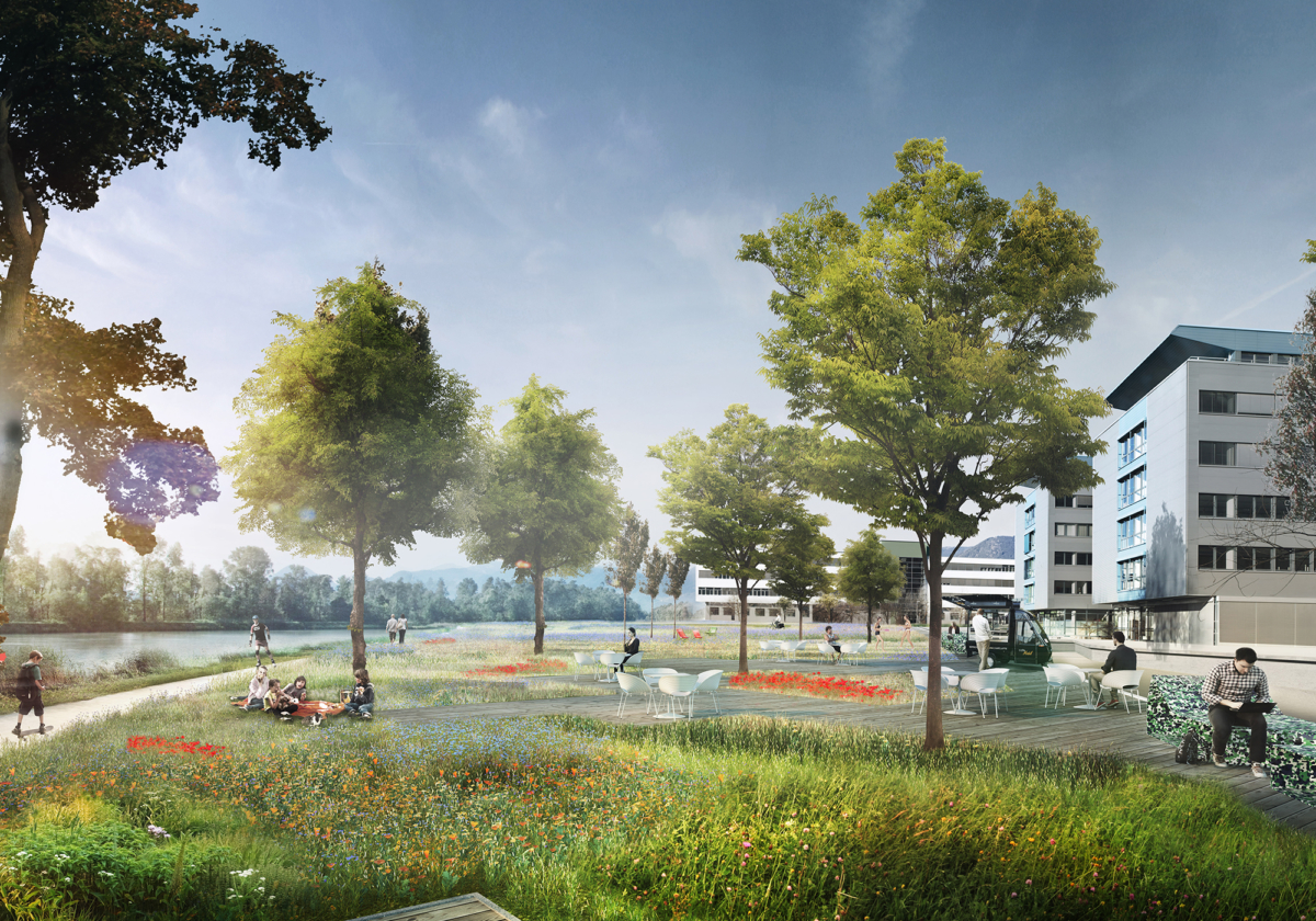 Villach High Tech Campus visualization 01